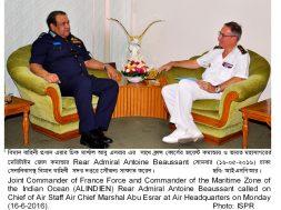 INDIAN OCEAN MARITIME ZONE COMMANDER  CALLS ON COAS BAF (16-5-16)