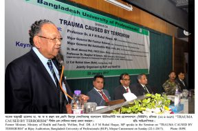"SEMINAR ON ""TRAUMA CAUSED BY TERRORISM"" 22-01-2017"