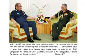 INDIAN ARMY CHIEF CALLED ON WITH COAS